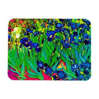 Van Gogh Irises - Pop Art Version Rectangle Magnet
