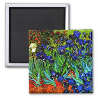 Van Gogh - Irises Square Magnet
