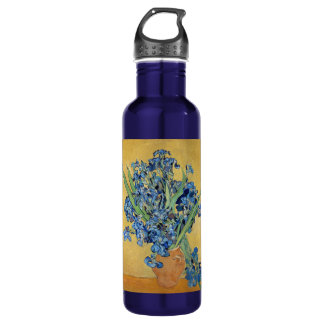 Van Gogh Irises Vase Flowers Floral Still Life Art 710 Ml Water Bottle