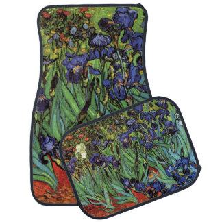 Van Gogh Irises, Vintage Garden Fine Art Floor Mat