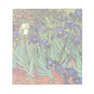 Van Gogh Irises, Vintage Garden Fine Art Notepad