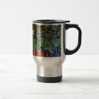Van Gogh Irises, Vintage Garden Fine Art Travel Mug