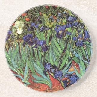 Van Gogh Irises, Vintage Post Impressionism Art Drink Coaster