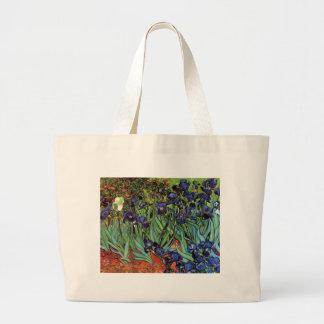 Van Gogh Irises, Vintage Post Impressionism Art Jumbo Tote Bag