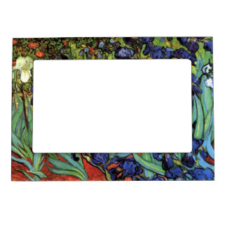 Van Gogh Irises Vintage Post Impressionism Art Frame Magnet