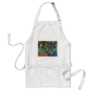 Van Gogh Irises, Vintage Post Impressionism Art Standard Apron