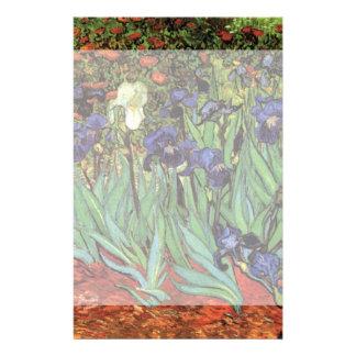 Van Gogh Irises, Vintage Post Impressionism Art Custom Stationery
