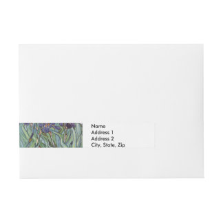 Van Gogh Irises Wraparound Address Label