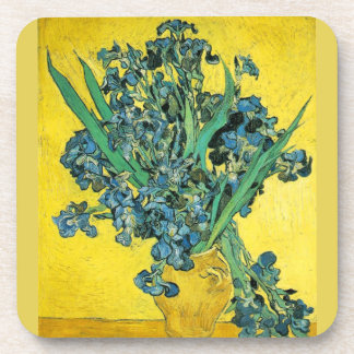 Van Gogh Irises yellow Beverage Coasters