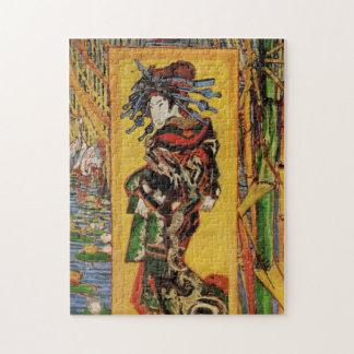 Van Gogh Japanese Courtesan Oiran Vintage Portrait Puzzles