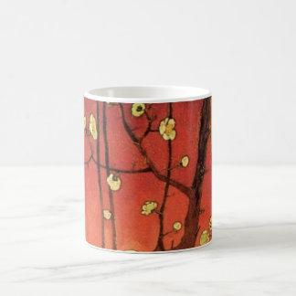 Van Gogh Japanese Flowering Plum Tree, Fine Art Basic White Mug