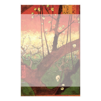 Van Gogh Japanese Flowering Plum Tree, Fine Art Stationery Paper