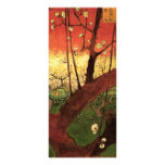 Van Gogh Japanese Flowering Plum Tree, Vintage Art Customized Rack Card