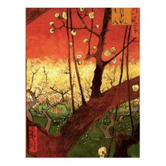 Van Gogh Japanese Flowering Plum Tree, Vintage Art Postcard