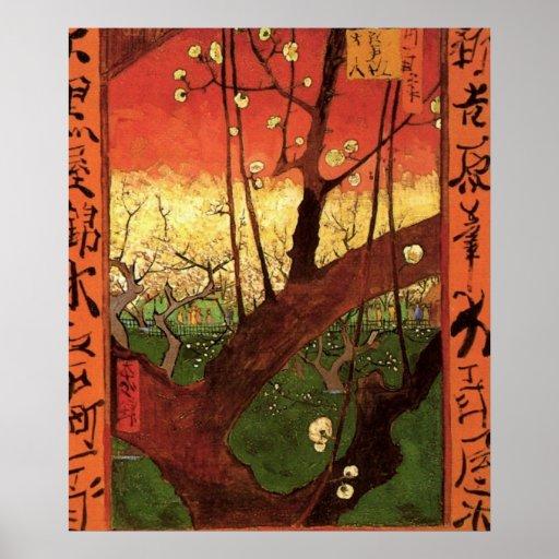 Van Gogh Japanese Flowering Plum Tree, Vintage Art Poster