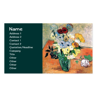 Van Gogh Japanese Vase, Roses, Anemones (F764) Business Cards
