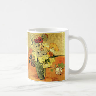 Van Gogh Japanese Vase with Roses and Anemones Coffee Mug