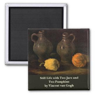 Van Gogh, Jars and 2 Pumpkins, Vintage Still Life Magnet