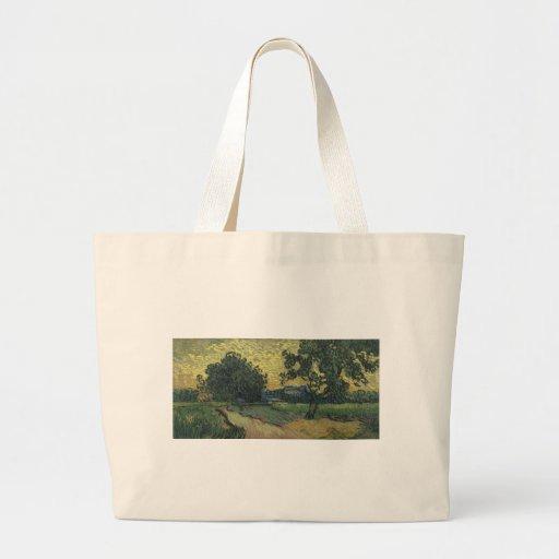 Van Gogh Landscape at Twilight 1890 Tote Bag