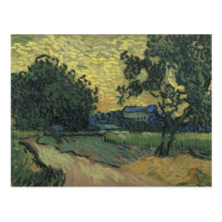 Van Gogh Landscape at Twilight 1890 Postcard