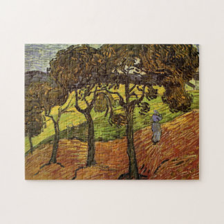 Van Gogh Landscape with Trees, Vintage Fine Art Jigsaw Puzzle