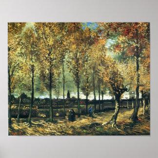 Van Gogh - Lane with poplars near Nuenen Print