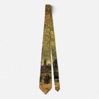 Van Gogh Lane with Poplars, Vintage Fine Art Tie