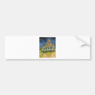 VAN GOGH - L'EGLISE D'AUVERS-SUR-OISE BUMPER STICKER