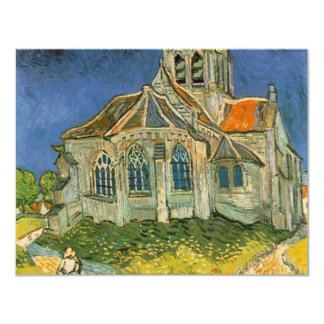 "VAN GOGH - L'EGLISE D'AUVERS-SUR-OISE 4.25"" X 5.5"" INVITATION CARD"