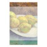 Van Gogh Lemons on a Plate, Vintage Still Life Art Personalised Stationery