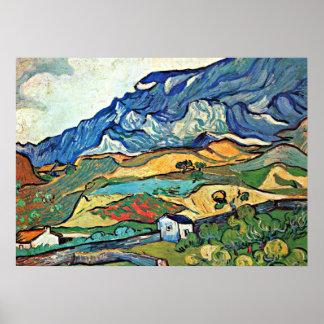 Van Gogh - Les Alpilles Mountain Landscape Poster