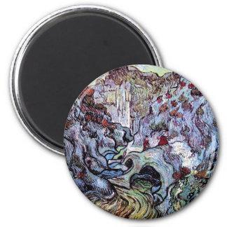 Van Gogh - Les Peiroulets Ravine Fridge Magnet