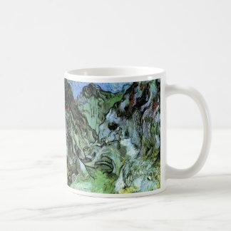 Van Gogh Les Peiroulets Ravine, Vintage Fine Art Coffee Mug