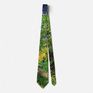 Van Gogh Lilacs, Vintage Flowers, Floral Fine Art Tie