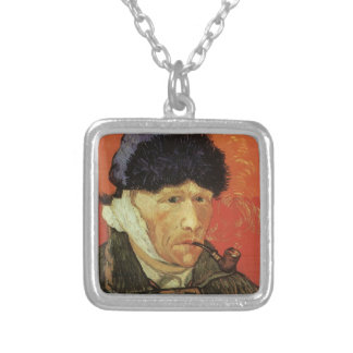 Van Gogh - Man With Pipe Silver Plated Necklace