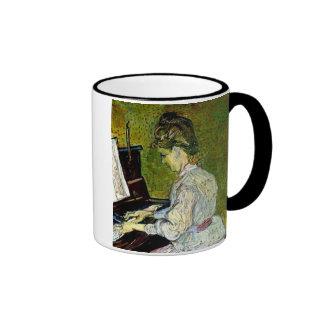 Van Gogh - Marguerite Gachet At The Piano Ringer Coffee Mug