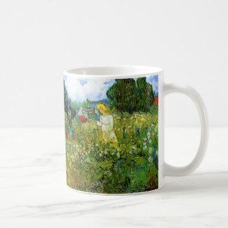 Van Gogh; Marguerite Gachet in Garden, Vintage Art Classic White Coffee Mug