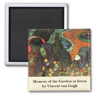Van Gogh; Memory of the Garden, Etten, Vintage Art Square Magnet