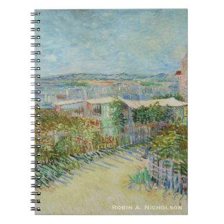 Van Gogh Montmartre Personalised Spiral Notebook