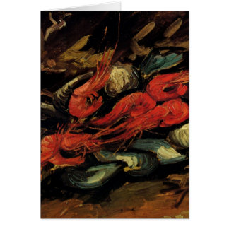 Van Gogh, Mussels and Shrimp, Vintage Still Life Card