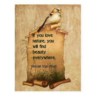 """Van Gogh"" nature quote card"