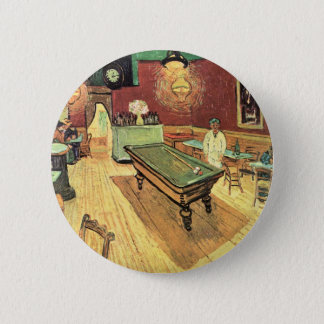 Van Gogh Night Cafe in the Place Lamartine, Arles 6 Cm Round Badge