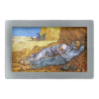 Van Gogh: Noon Rest from Work Belt Buckles