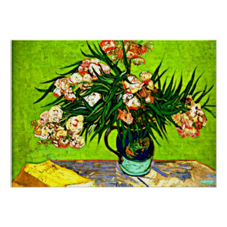Van Gogh - Oleanders and Books Poster