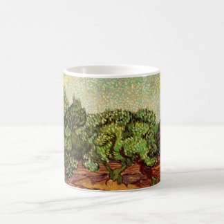 Van Gogh Olive Grove Pale Blue Sky, Fine Art Basic White Mug