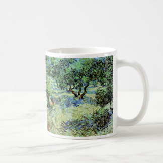 Van Gogh Olive Grove, Vintage Trees Fine Art Basic White Mug