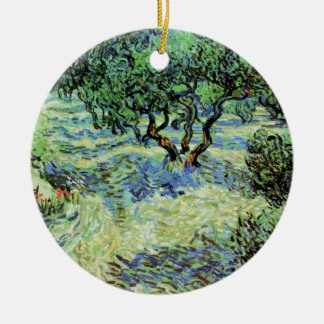Van Gogh Olive Grove, Vintage Trees Fine Art Ceramic Ornament