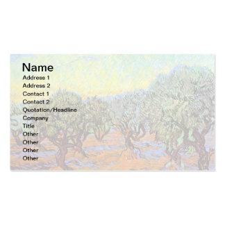 Van Gogh - Olive Grove with Orange Sky Business Cards