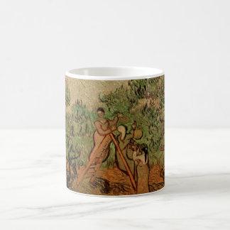 Van Gogh Olive Picking, Vintage Fine Art Basic White Mug