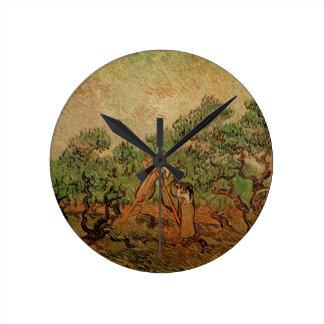 Van Gogh Olive Picking, Vintage Fine Art Wall Clock